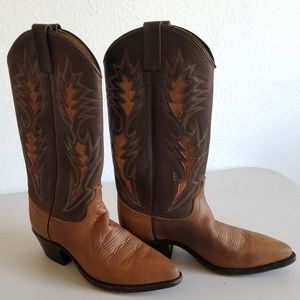 Vintage 70s Dan Post cowgirl boots